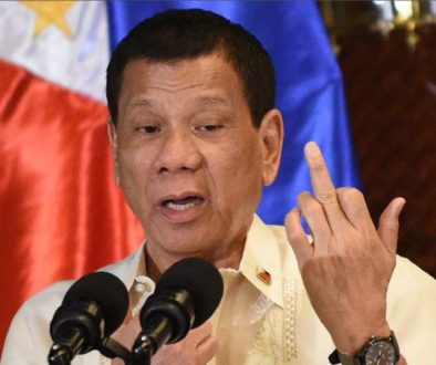 Duterte Giving Us the Finger