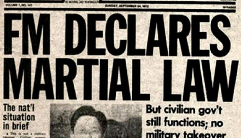 martial law newspaper